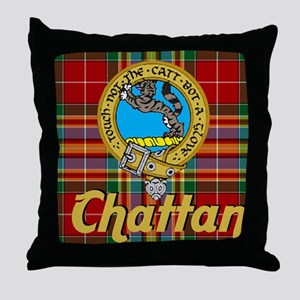 chattan tartan 10x10 Throw Pillow