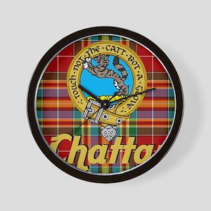 chattan tartan 10x10 Wall Clock