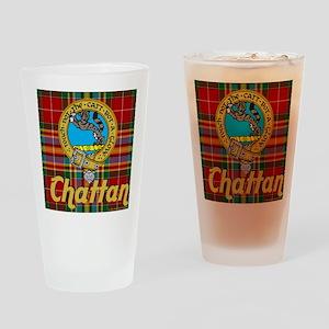 chattan tartan 10x10 Drinking Glass