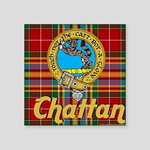 """chattan tartan 10x10 Square Sticker 3"""" x 3"""""""