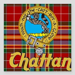 "chattan tartan 10x10 Square Car Magnet 3"" x 3"""