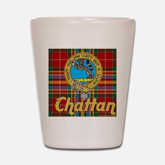 chattan tartan 10x10 Shot Glass