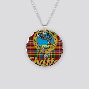 chattan tartan 10x10 Necklace Circle Charm