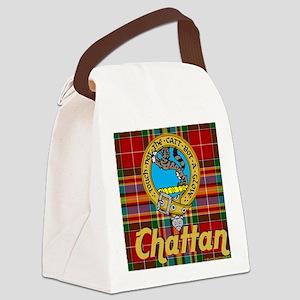 chattan tartan 10x10 Canvas Lunch Bag