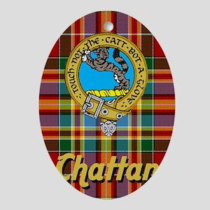 chattan15tx10.75w Oval Ornament