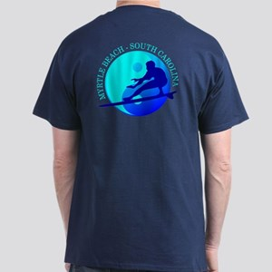 Myrtle Beach (Yin-Yang) Blue T-Shirt