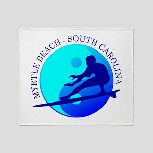 Myrtle Beach (yin-yang) Blue Throw Blanket