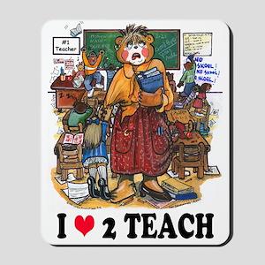 Stressed Teacher - Female Mousepad