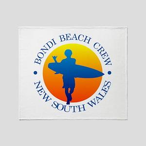 Surf Bondi Beach Throw Blanket