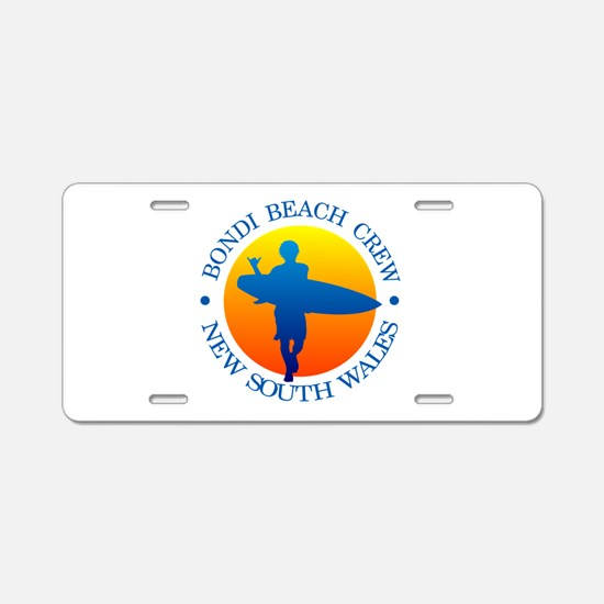 Surf Bondi Beach Aluminum License Plate