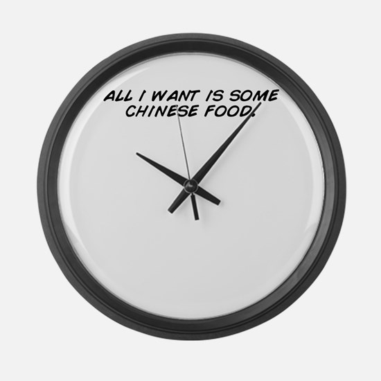 Cute All i want Large Wall Clock