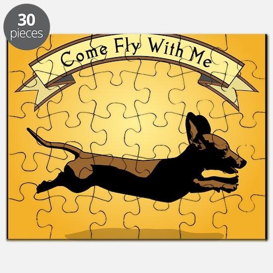 8x9_trvlbnd_flying_dog Puzzle
