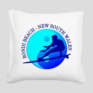 Zen Surfer (Bondi) Square Canvas Pillow