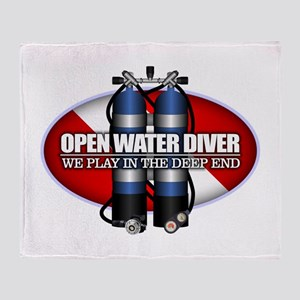 Open Water Diver (Scuba Tanks) Throw Blanket
