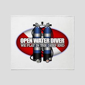 Open Water Diver (Scuba Tanks) Throw Blanket