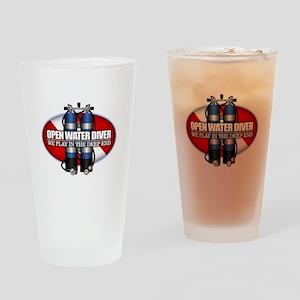 Open Water Diver (Scuba Tanks) Drinking Glass