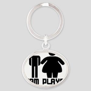 Team Player 1 Oval Keychain