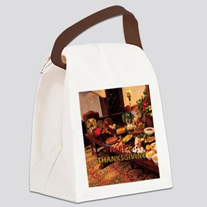 Thanksgiving Dinner Doxies Canvas Lunch Bag