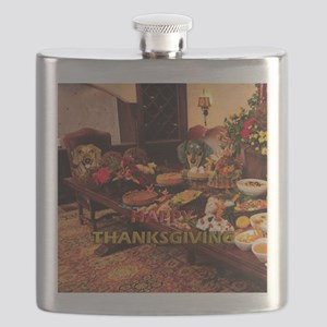 Thanksgiving Dinner Doxies Flask