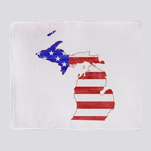 Michigan Flag Throw Blanket