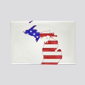 Michigan Flag Rectangle Magnet