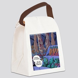 Vegans And Cemeteries Canvas Lunch Bag