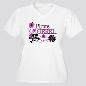 Pirate Grrrl (Standard Apparel 10x10) Plus Size T-
