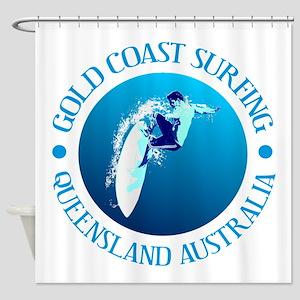 Gold Coast Surfing Shower Curtain