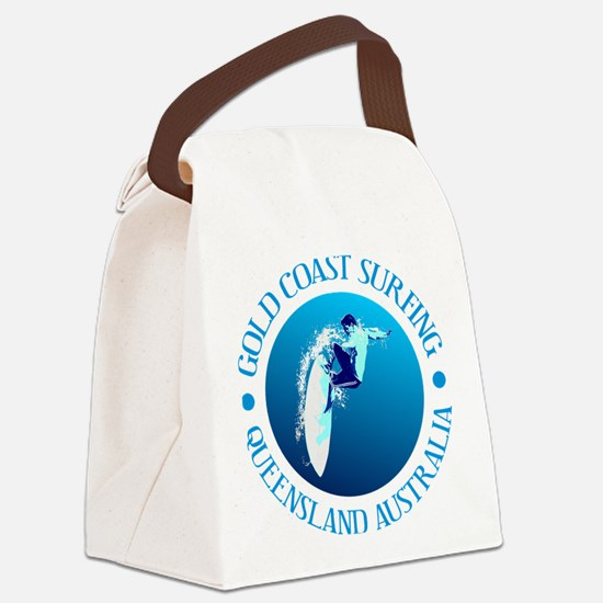 Gold Coast Surfing Canvas Lunch Bag