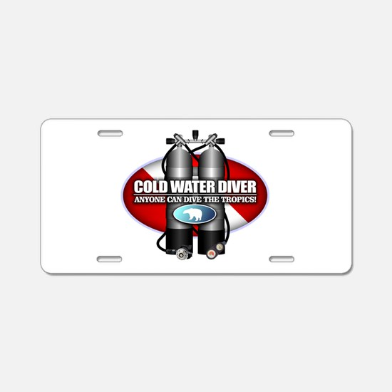 Cold Water Diver (ST) Aluminum License Plate
