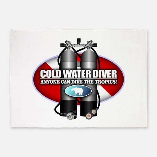Cold Water Diver (ST) 5'x7'Area Rug