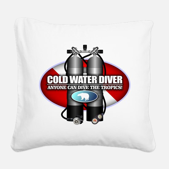Cold Water Diver (ST) Square Canvas Pillow