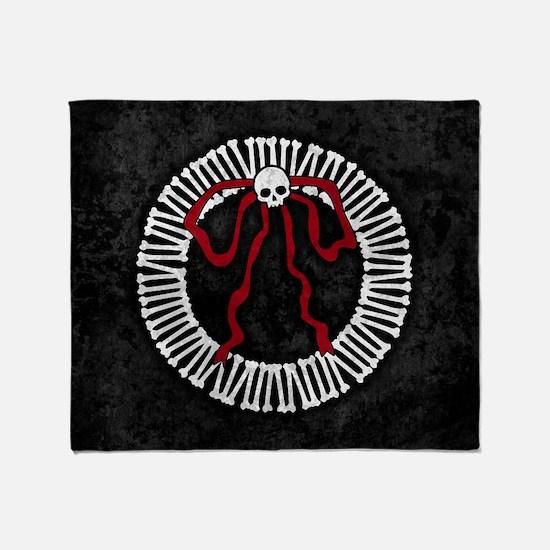 Gothic Bone Wreath Throw Blanket