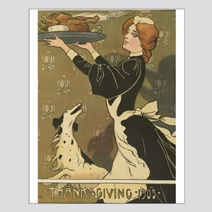Vintage Thanksgiving Victorian Turkey Posters