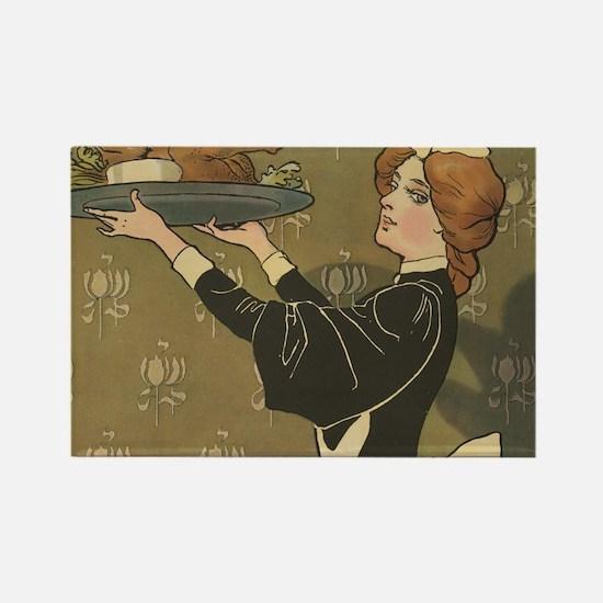 Vintage Thanksgiving Victorian Turkey Magnets