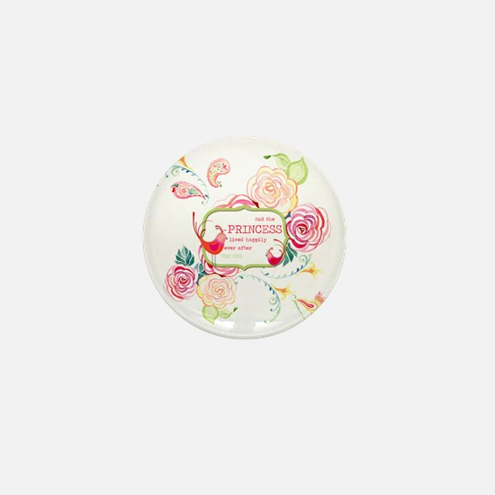 Princess Happily Ever After Modern Ros Mini Button