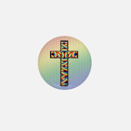 Woven Cross Mini Button