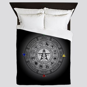 Wheel of the Year Zodiac Sabbats Queen Duvet