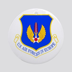 USAF Europe Ornament (Round)