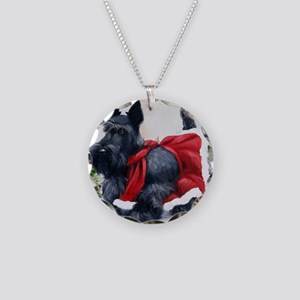 Christmas Necklace Circle Charm