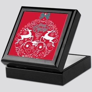 Christmas Bulb Reindeer Keepsake Box