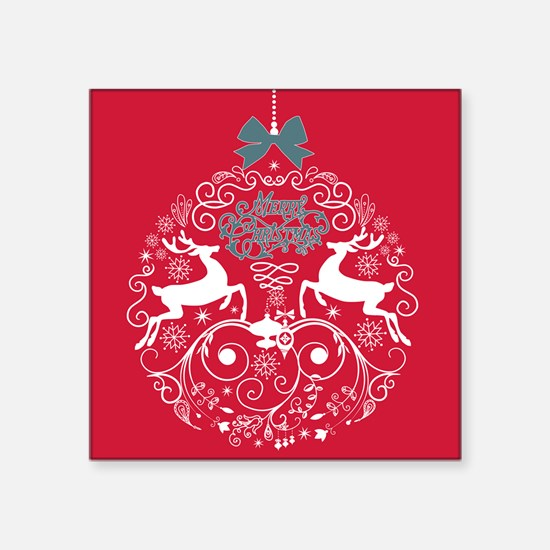 Christmas Bulb Reindeer Sticker