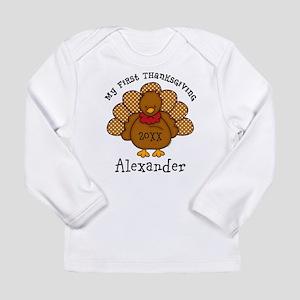 Baby Turkey 1st Thanksgiving Long Sleeve Infant T-