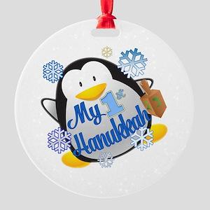 My 1st Hanukkah Round Ornament
