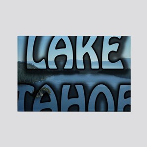 Lake Tahoe Emerald Bay Photo Text Rectangle Magnet