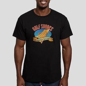 Gulf Shores - Men's Fitted T-Shirt (dark)