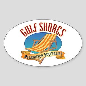 Gulf Shores - Sticker (Oval)
