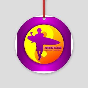 Trestles (Surfing) Ornament (Round)