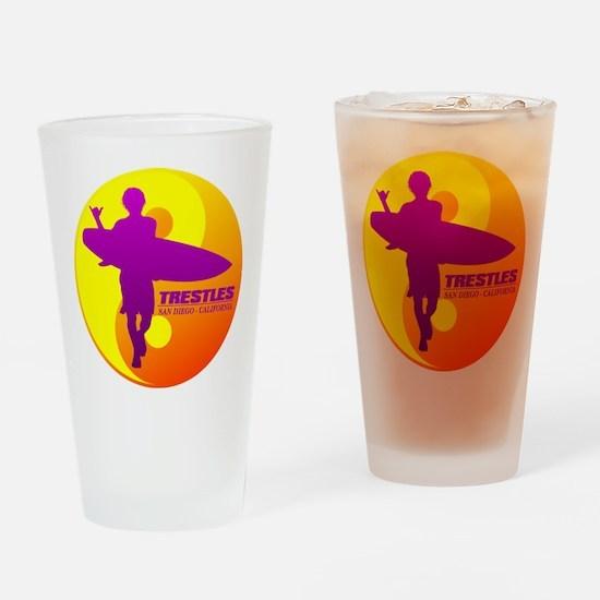 Trestles (Surfing) Drinking Glass