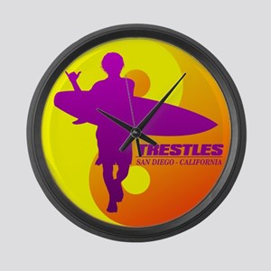 Trestles (Surfing) Large Wall Clock
